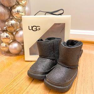 UGG Black Glitter Baby Boots